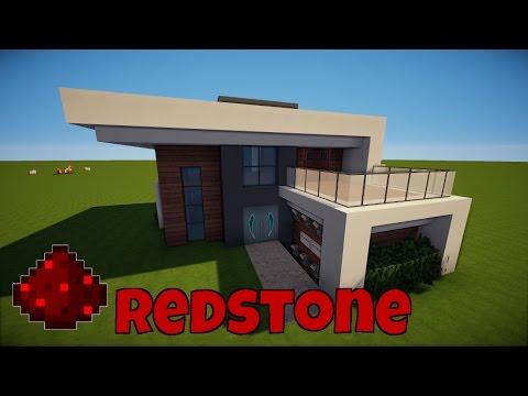 MINECRAFT MODERNES REDSTONE HAUS Bauen TUTORIAL HAUS Minecraft - Minecraft modernes haus nachbauen