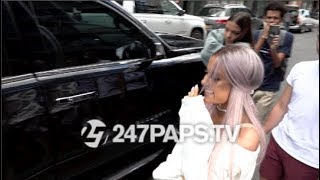 Download Lagu Ariana Grande out and about rocking her new Purple HairStyle and all Smiles in NYC 07-18-18 Gratis STAFABAND