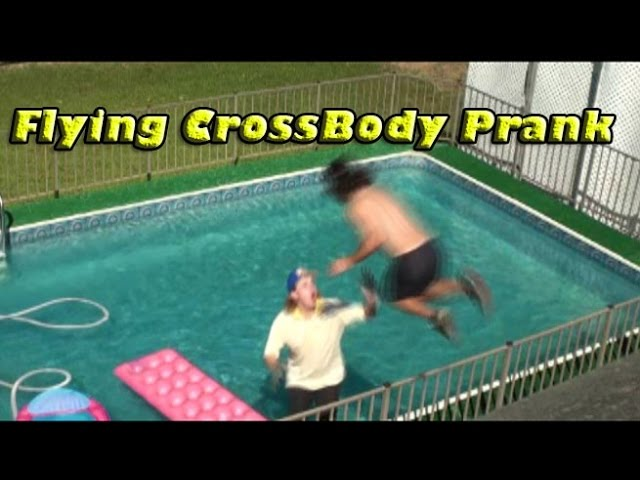 Flying Crossbody Into Pool Prank