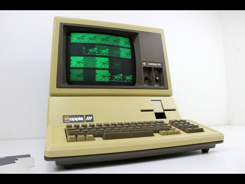 Apple III from 1981 starting some software