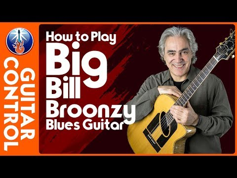 Big Bill Broonzy Blues Guitar Lesson