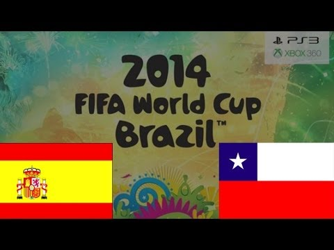 FIFA World Cup 2014: Spain 0-2 Chile score prediction (FIFA14)