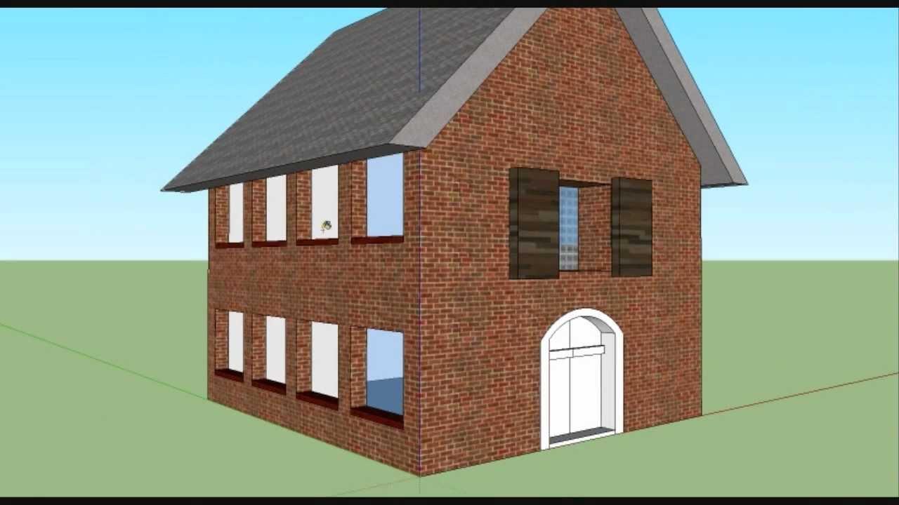 Grundrisse Zeichnen Sketchup : Haus bauen mit Google Sketchup [verschnellert]  YouTube