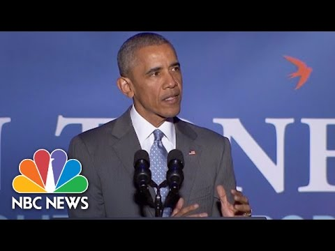 President Obama Takes On 'Divisive' Tone Of 2016 Race | NBC News