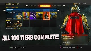 BLACK OPS 4 NEW BATTLE PASS! ALL 100 TIERS UNLOCKED BO4 CONTRABAND STREAM BLACK OPERATIONS LEVEL 100