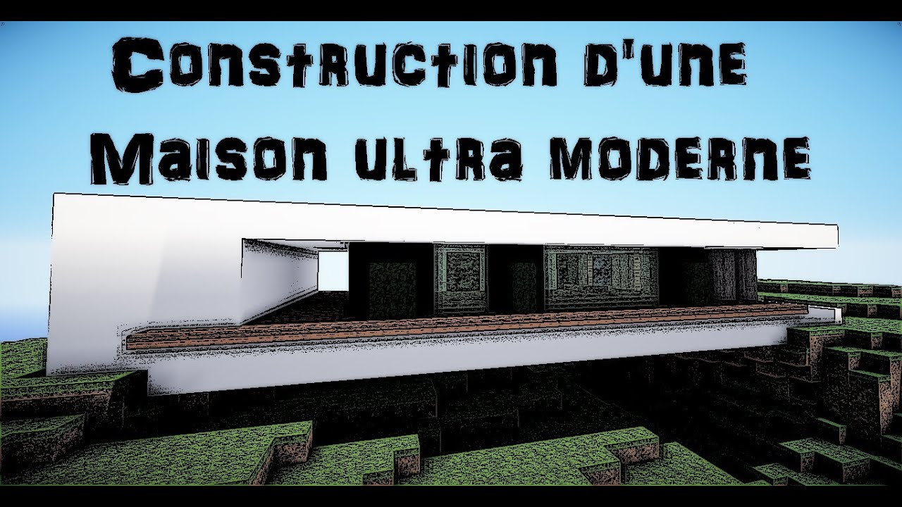 minecraft construction d 39 une maison du style ultra moderne ep 1 youtube. Black Bedroom Furniture Sets. Home Design Ideas