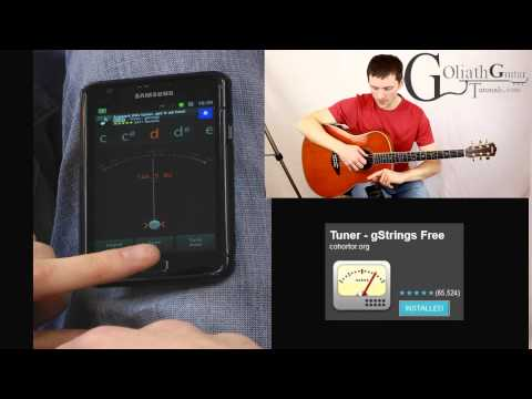 How To Tune a Guitar With A Tuner - Free gstrings tuner