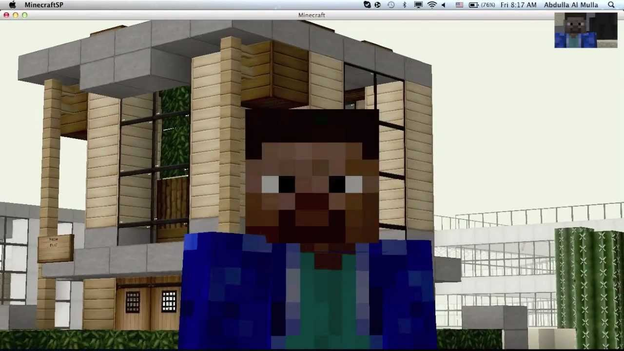 How to build a 6x6 modern house in minecraft youtube for Modern house 6x6