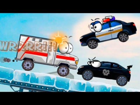 Мультик про Экзамен по парковке. Полицейская машина Скорая помощь Пожарная машина у видео для детей.