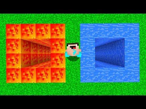 ЯМА ИЗ ЛАВЫ против ЯМА ИЗ ВОДЫ В МАЙНКРАФТ! Неудачник Нуб в Minecraft Троллинг Ловушка Мультик