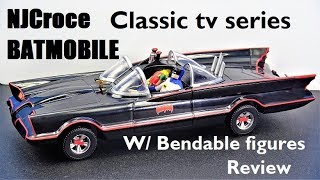 NJCroce Classic tv series Batmobile with bendable figures review