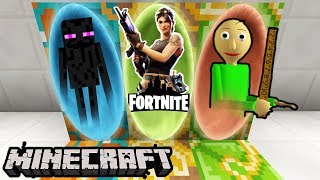 PORTALE DO: ENDERMAN, FORTNITE, BALDI - Minecraft