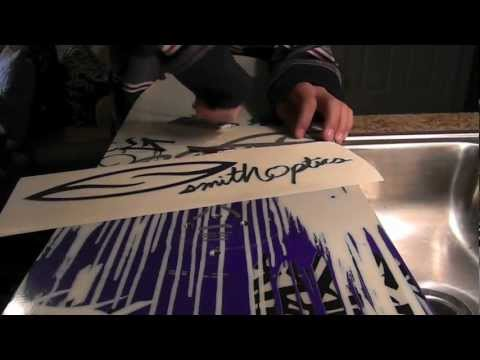 How to Put Stickers on Your Snowboard or Skis