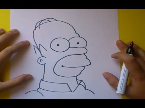 Como dibujar a Homer simpson paso a paso Los Simpsons How to draw Homer simpson The Simpsons