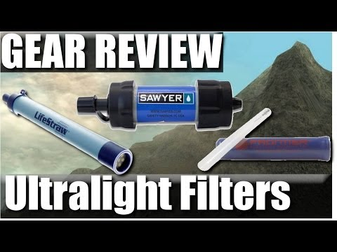 Ultralight Backpacking Water Filters: Sawyer mini squeeze vs. Lifestraw vs. Aquamira Review