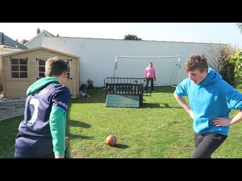 GARDEN FOOTBALL CHALLENGES!!