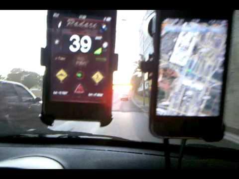 Comparativo iPod / iPhone: detectando radares e evitando acidentes com o iTouch!