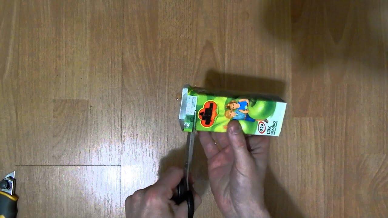 Поделки из коробки сока фото