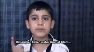 Tangisan anakn palestina jutaan org menangis mendengarkan nya masa alloh