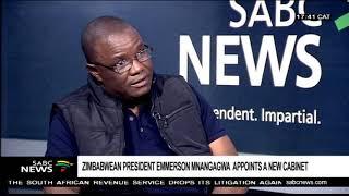Appointment of Zimbabwe's new cabinet: Prof. Mthuli Ncube