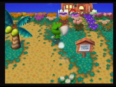 Animal Crossing City Folk - Catching a Peacock Butterfly Video
