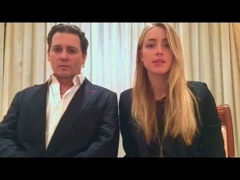 Johnny Depp and Amber Heard release bizarre apology video