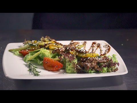 Тёплый салат Вок с телятиной рецепты