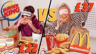 BLINDFOLDED TASTE TEST - McDonald's VS Burgerking?!