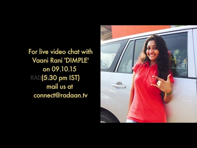 Live Chat With Your Vaani Rani Favourite Stars | Dimple (Neelima Rani) | Live on 09.10.2015
