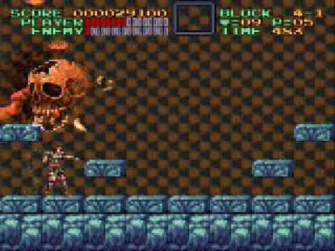 Super Castlevania 4 Stage 4 Video