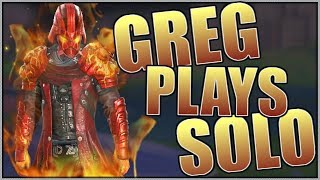 WHEN GREG PLAYS SOLO // IS HE TRASH?😷 // Rules of Survival
