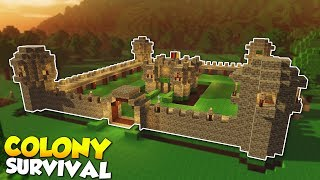 WALLS AND TOWER DEFENSE! - Colony Survival Gameplay [Ep 3] - Kingdom Building!