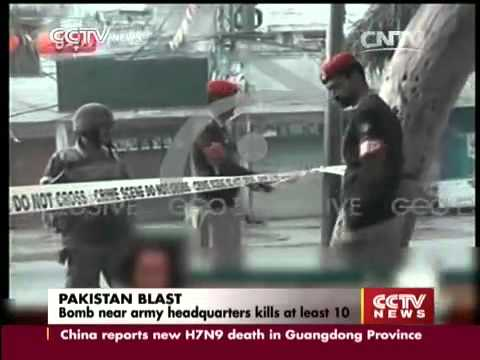 14 killed in Taliban bombing near Pakistan-Punjabi military HQ in Rawalpindi