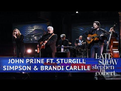John Prine Ft. Sturgill Simpson And Brandi Carlile Perform 'Summer's End'