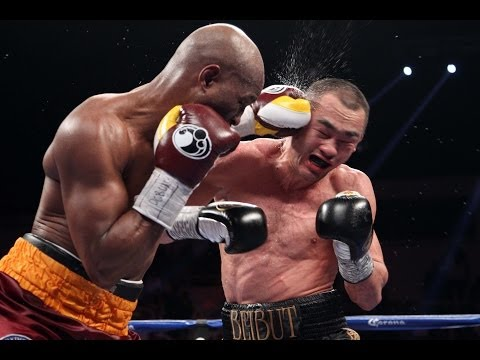 Bernard Hopkins Knocks Down Beibut Shumenov in 11th Round klip izle
