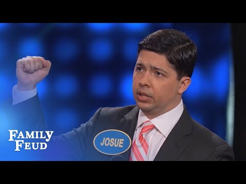 Josue STICKS it to Steve! | Celebrity Family Feud | OUTTAKE