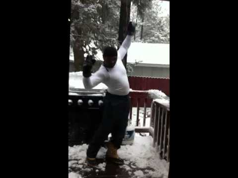 Mike going HAM in the Snow