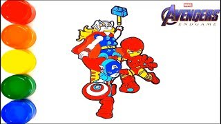 Drawing and Coloring Avengers endgame characters(Thor , Captian America , Iron Man) | Learn Colors