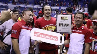 The 2019 PBA Commissioner's Cup Finals MVP is Terrence Romeo!
