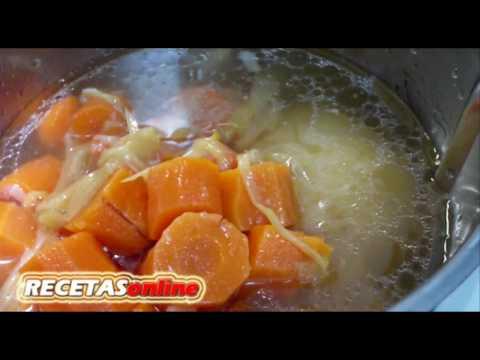 Crema de pollo y verduras  - Recetas de cocina RECETASonline