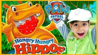 PAW PATROL Videos HUNGRY HUNGRY HIPPO vs Paw Patrol REAL LIFE Hippo EATS DISNEY CARS MicroDrifters