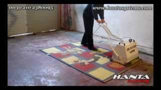 Portable rugs and carpets dusting machine