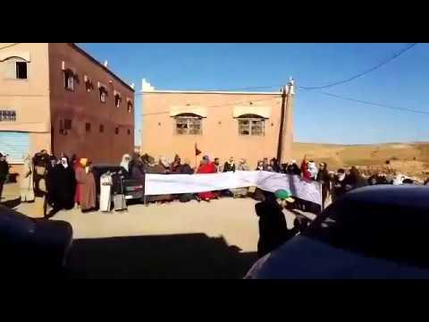 سكان من بوطروش يحتجون ضد رئيس جماعتهم