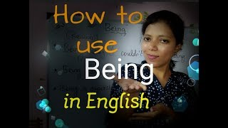 Usage of BEING in English / Spoken english through Tamil lesson 41