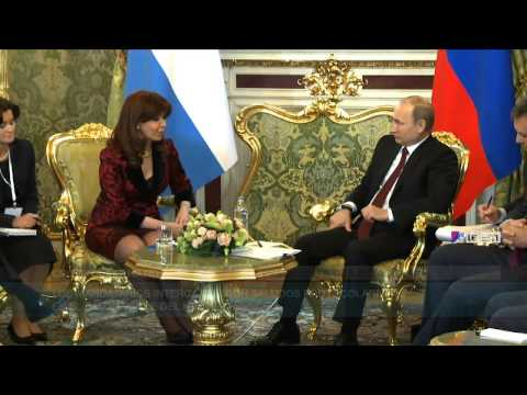 Cristina está reunida con Putin en el cierre de su visita oficial a Rusia