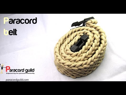 How to make a paracord belt