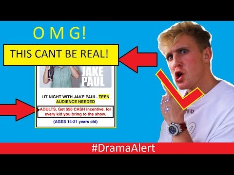 Jake Paul Pays $50 for Parents to bring their Kids to his show! #DramaAlert Logan Paul Reacts!