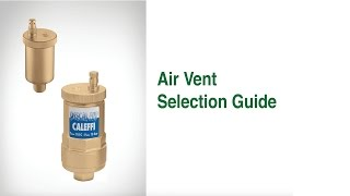 Automatic Air Vent Selection Guide