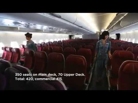 Malaysia Airlines: A380 Economy Class (cabin tour)