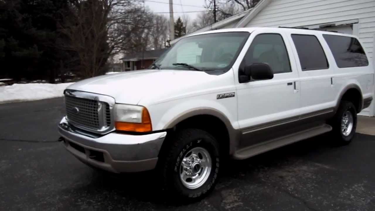 2000 ford excursion powerstroke 7 3l diesel for sale call 765 456 1788 youtube. Black Bedroom Furniture Sets. Home Design Ideas